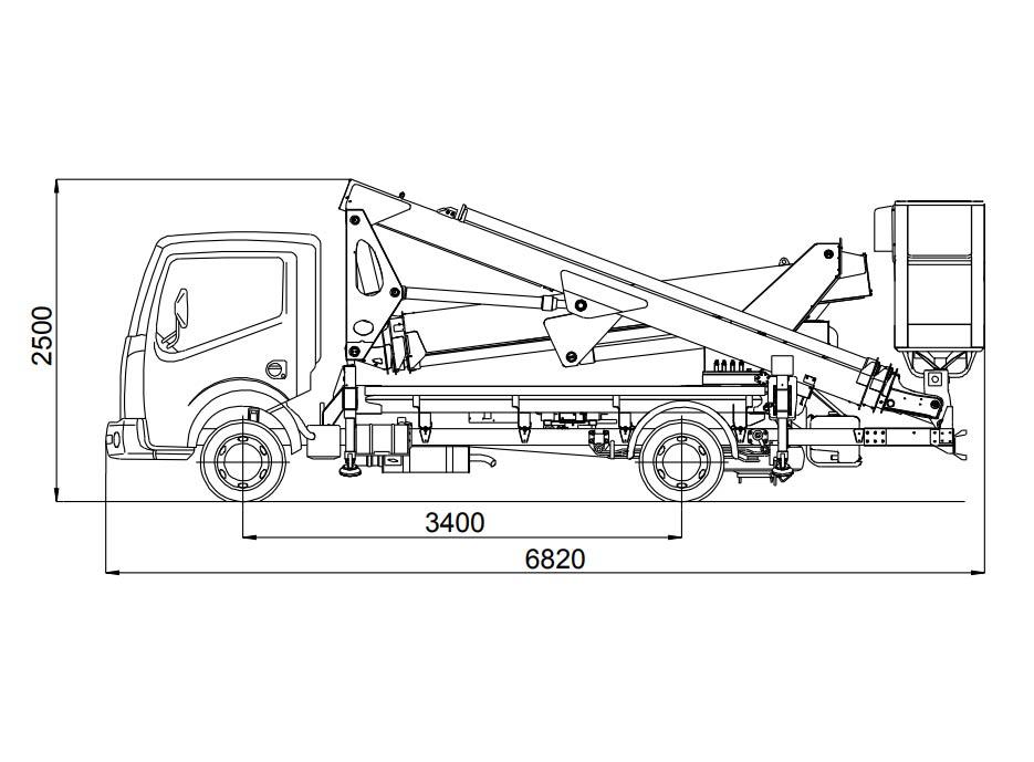 Camión cesta 25 metros